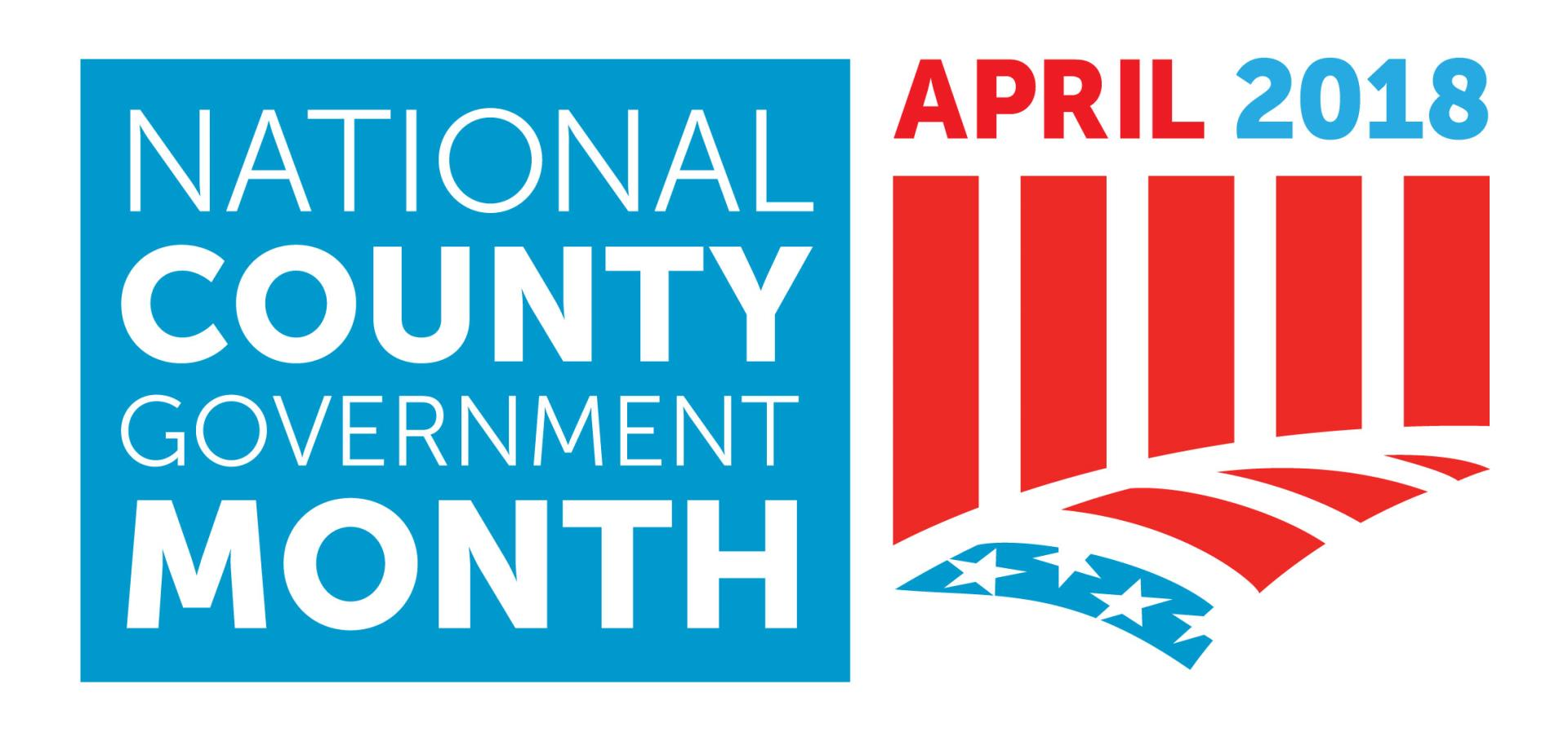 National County Government Month logo 2018