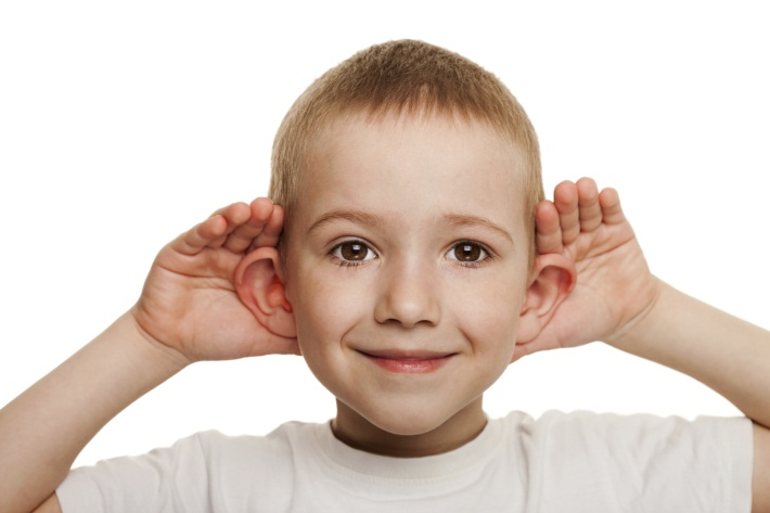 Child Listening - Hands Behind Both Ears