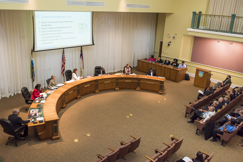 Durham County Commissioners in session