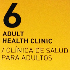Adult Health Clinic Sign