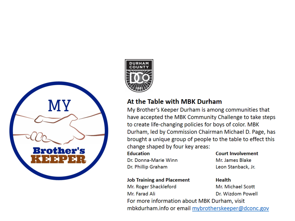mbk durham at the table