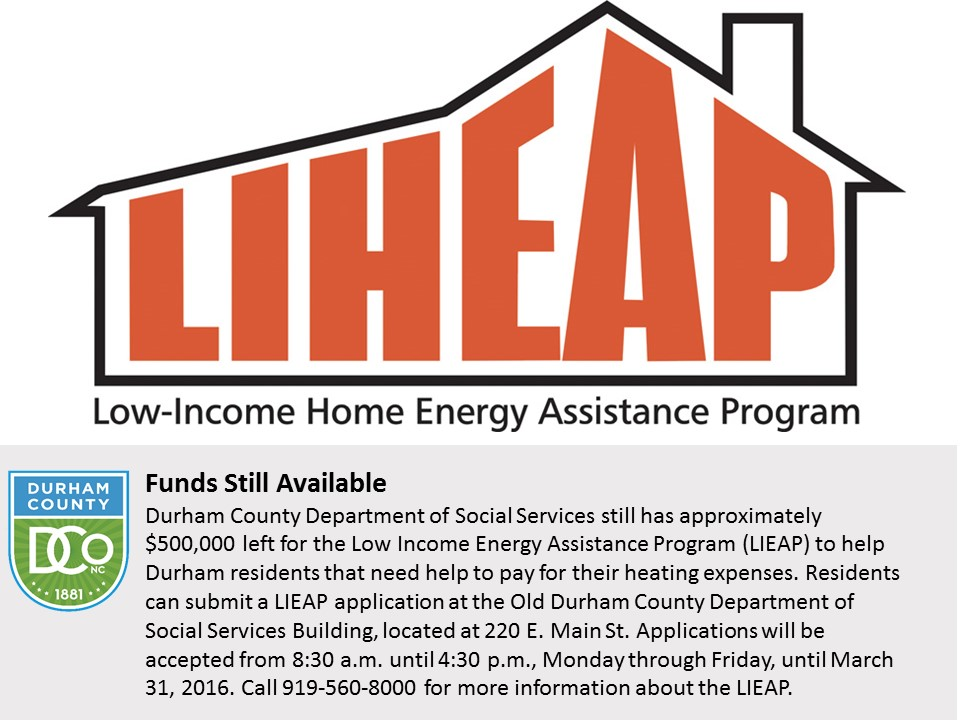 LIEAP Funds Still Available