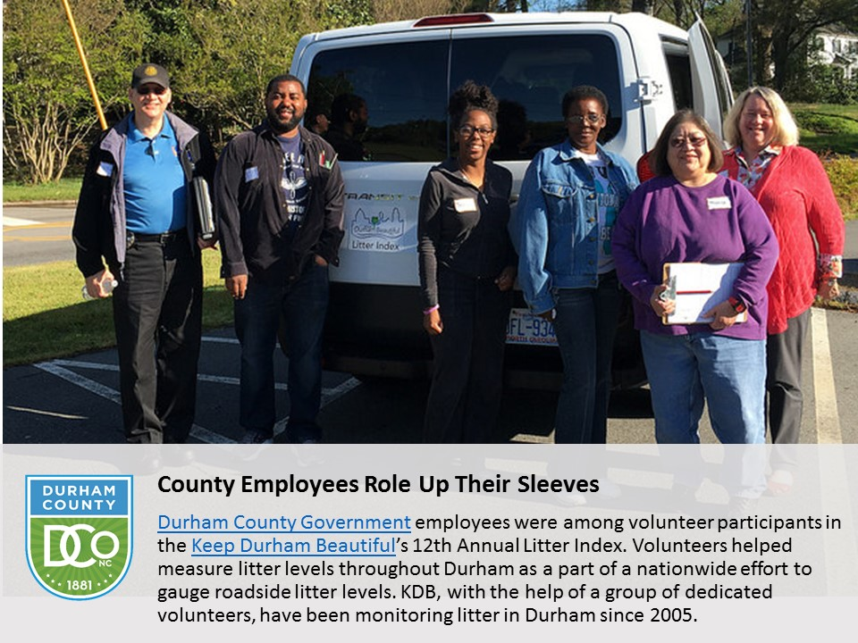 County Employees Role Up Their Sleeves