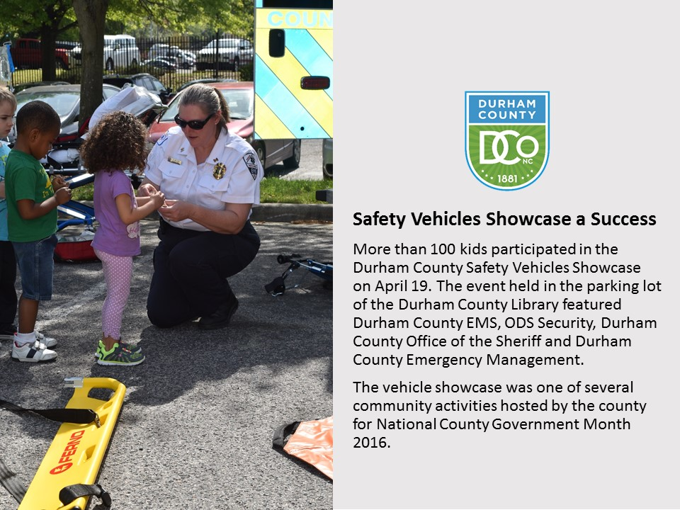 Safety Vehicles Showcase a Success