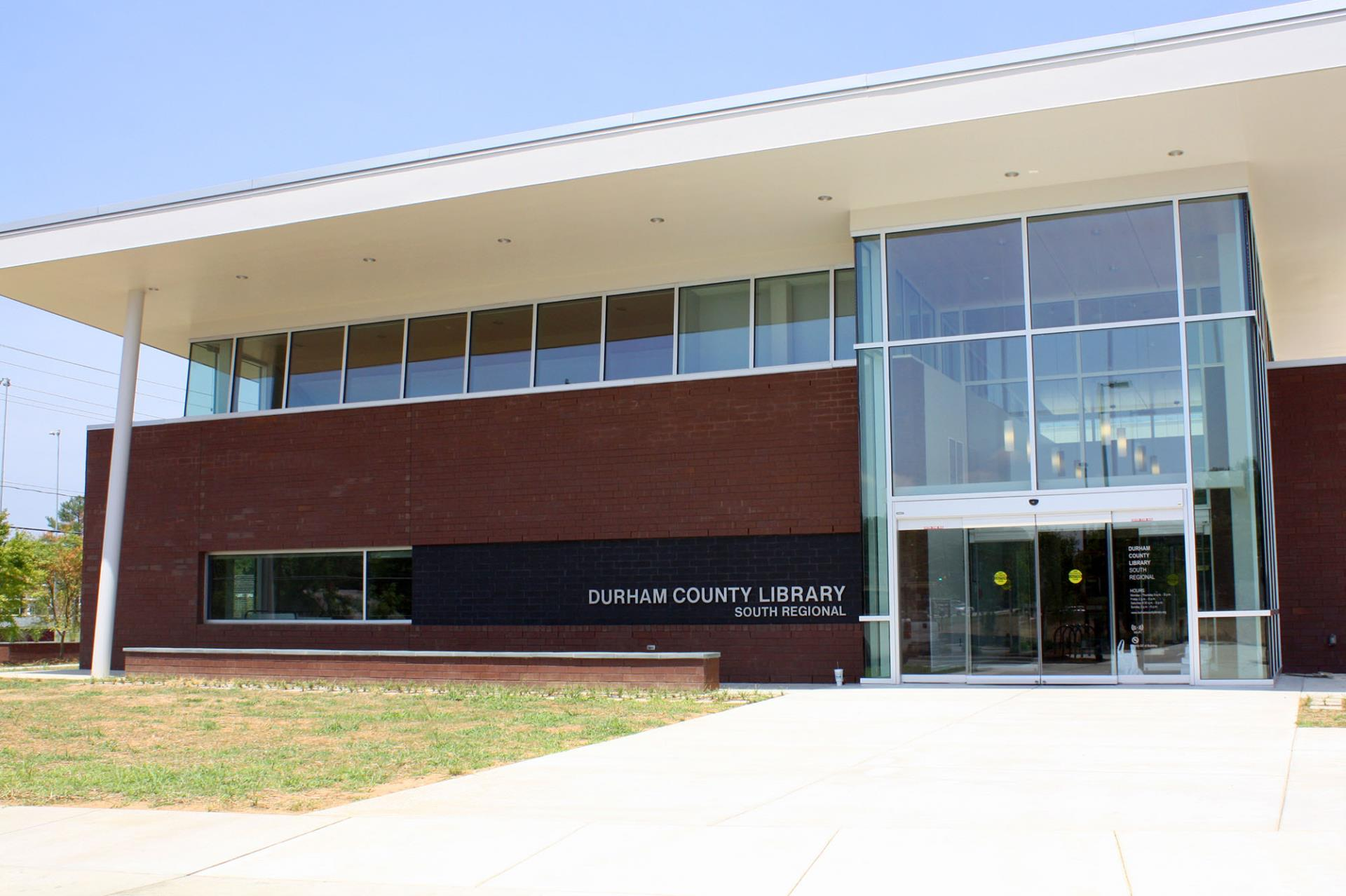 south regional library front of building