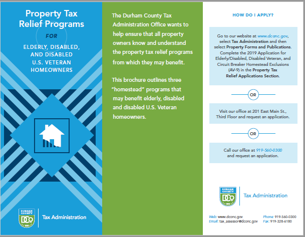 2019 Property Tax Relief Programs
