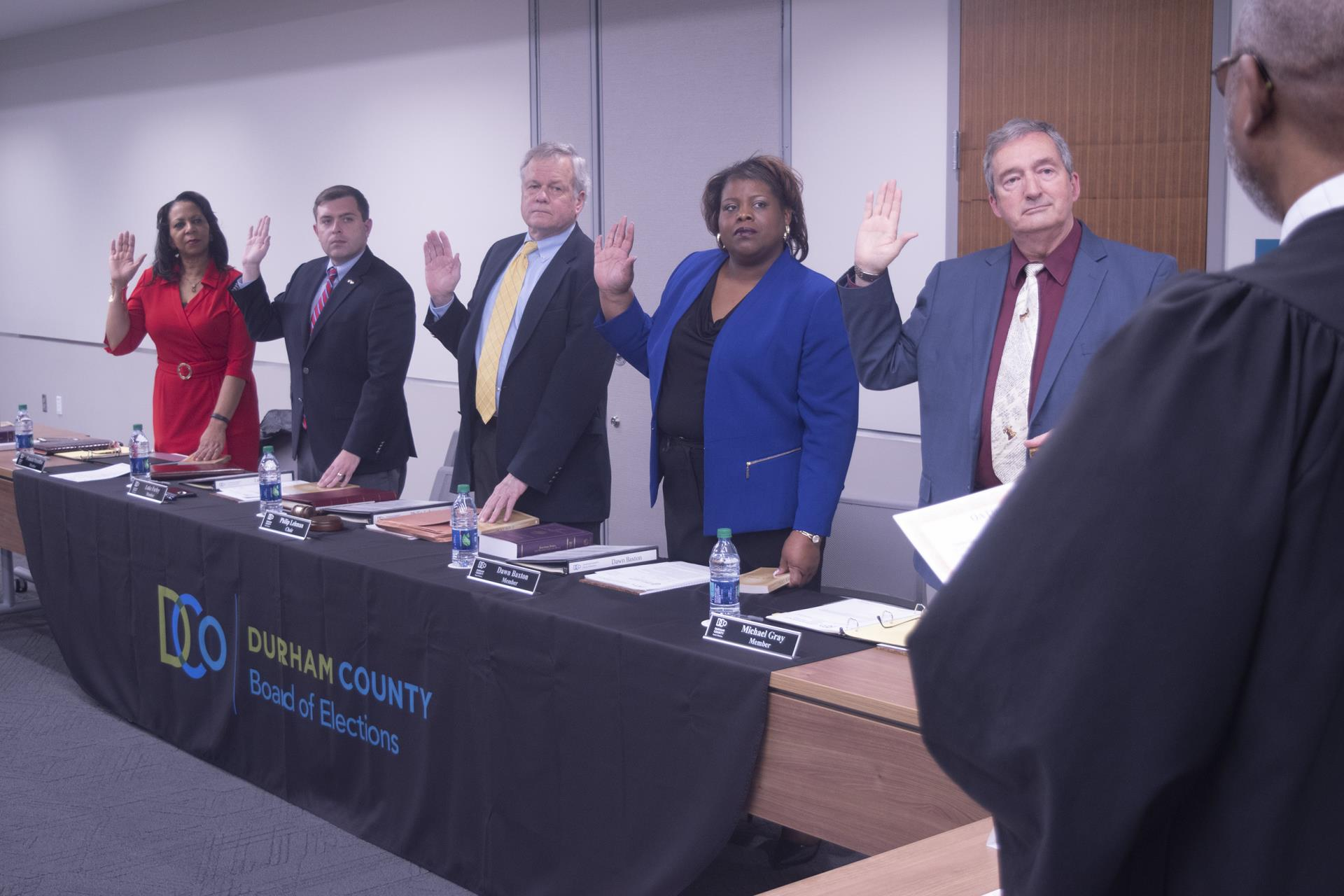 Board of Elections swearing in