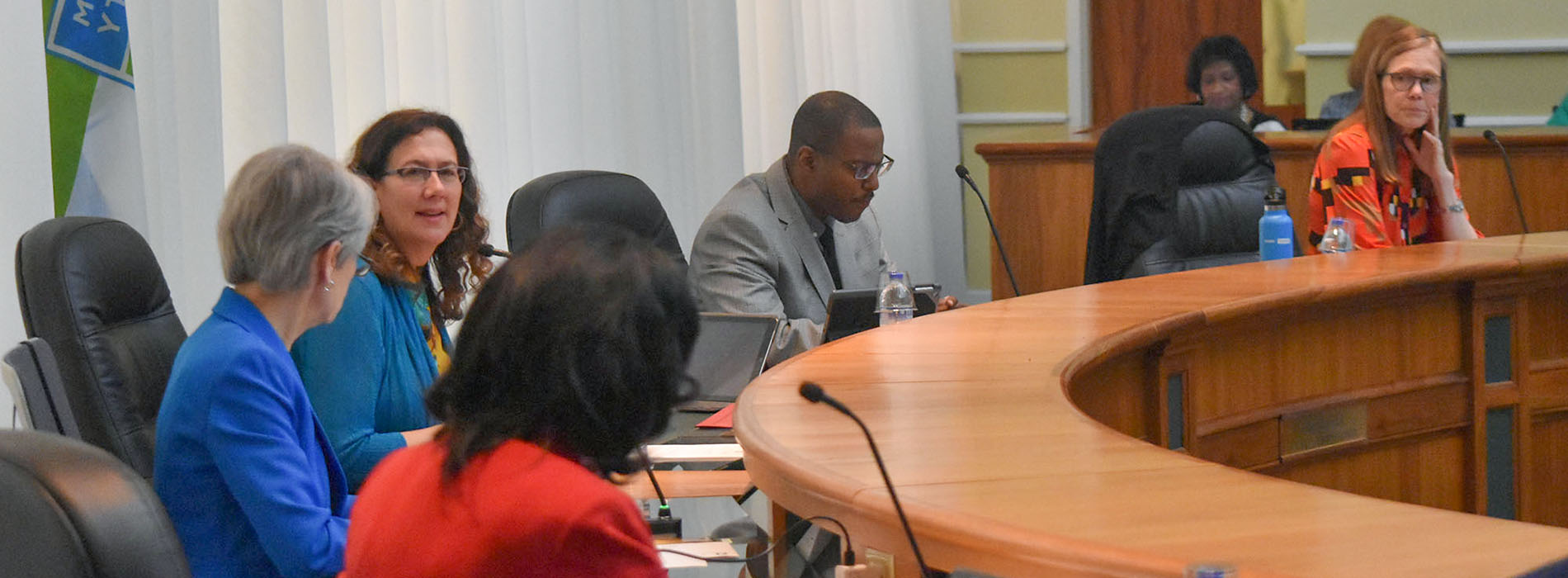 Durham BOCC members discuss an item during the April 22, 2019 Regular Session