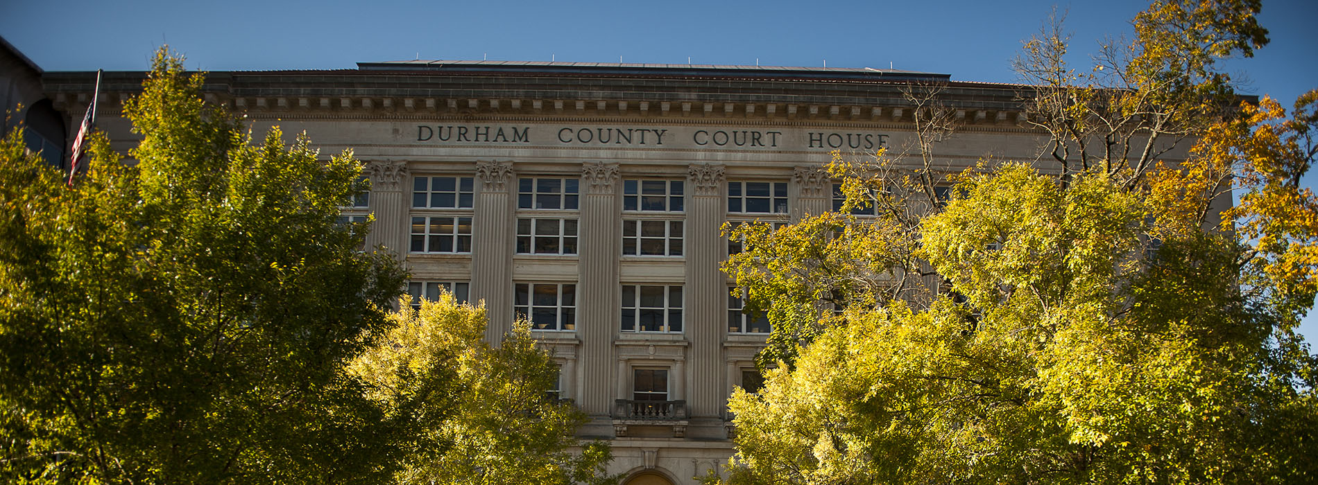 Front of Administration I Building during the fall