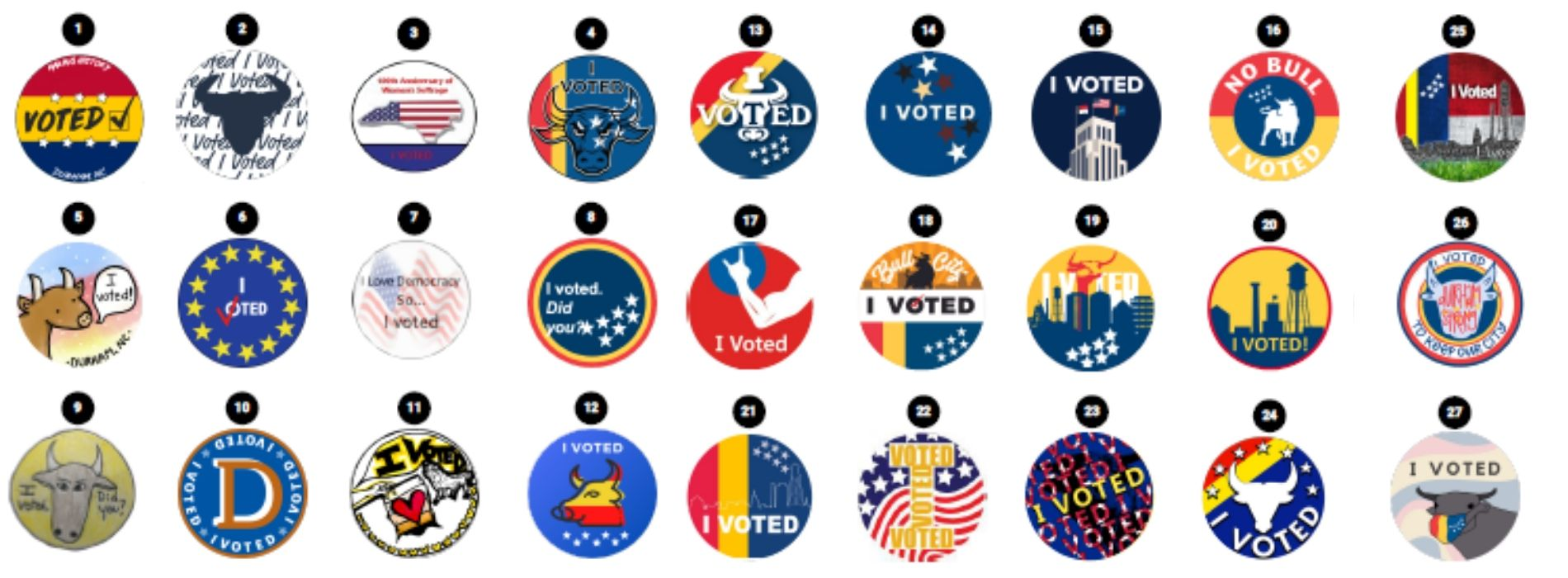 I Voted Contest Stickers